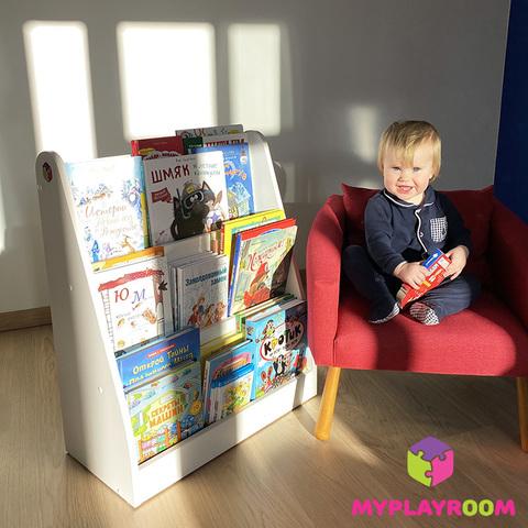 Детская полка для книг вместительная витрина по Монтессори