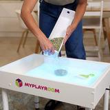 Световая песочница для LEGO от MYPLAYROOM™ с короткой столешницей 7в1 (открытый пенал) 10
