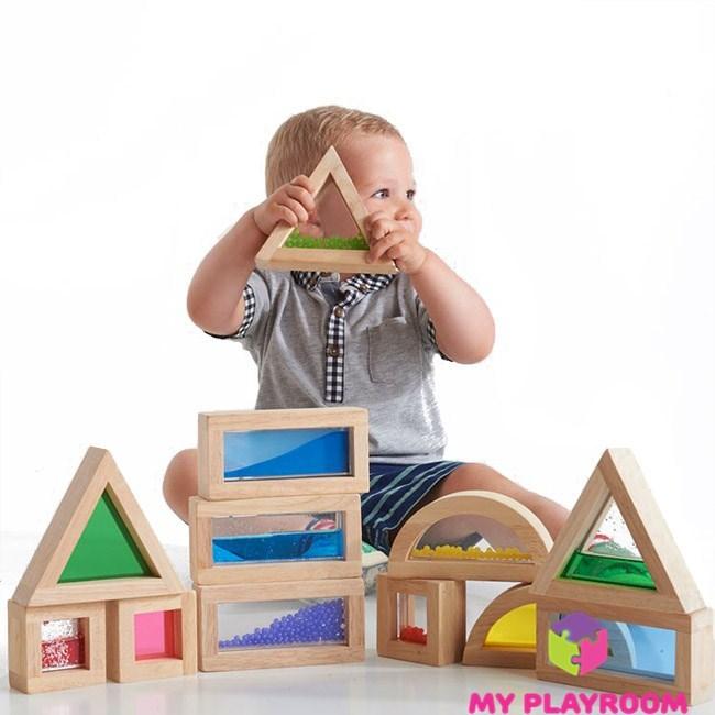детский деревянный конструктор