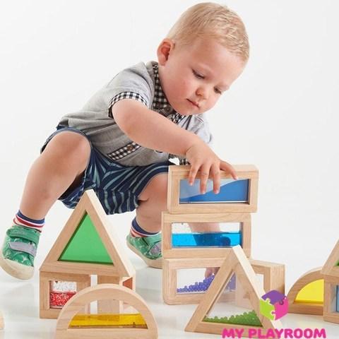 Большой конструктор Сенсорные блоки (Sensory blocks), 16 деталей 6