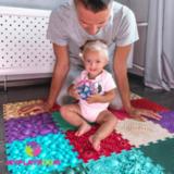 Детский массажный орто коврик