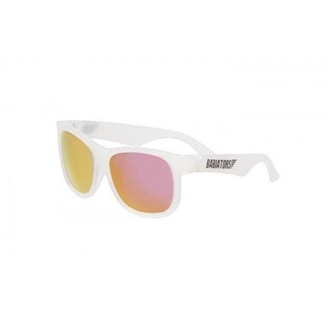 """Детские солнцезащитные очки Babiators Navigator (Premium) """"Розовый лёд,"""" (0-5 лет). Полупрозрачная оправа"""