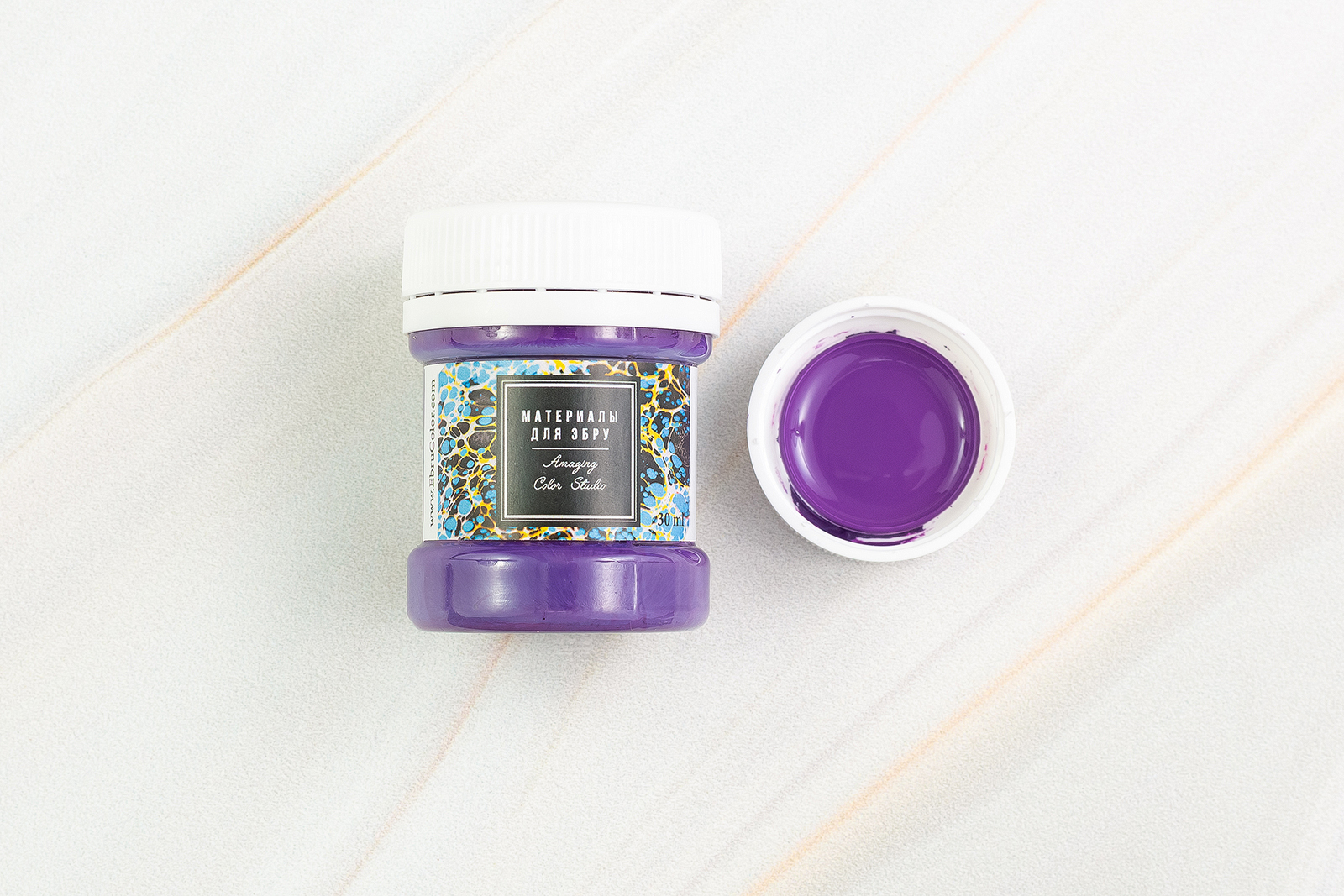 Краска для Эбру фиолетовая