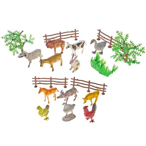 """Игровой набор """"Моя ферма"""", 12 фигурок + декор"""