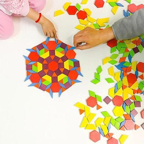 "Деревянная Мозаика ""Pattern Blocks"", 250 деталей"