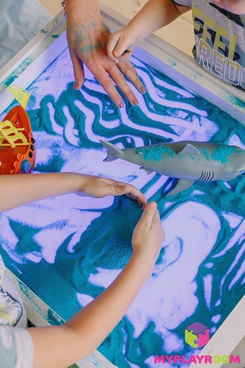 Рисование и игры с песком
