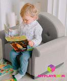 Детское мягкое кресло-качалка (мини-диванчик), Дымка 1