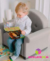 Детское мягкое кресло-качалка (мини-диванчик), Дымка