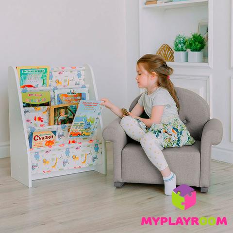 Детское мягкое кресло-качалка (мини-диванчик), Дымка 4