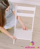 Растущий стульчик MYPLAYROOM™ к столу-песочнице, голубой 8