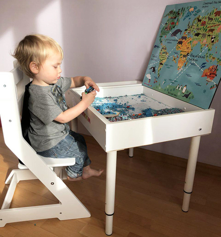 Растущий стульчик MYPLAYROOM™ к столу-песочнице, голубой 10