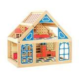 Расписной кукольный домик, 2 этажа 1