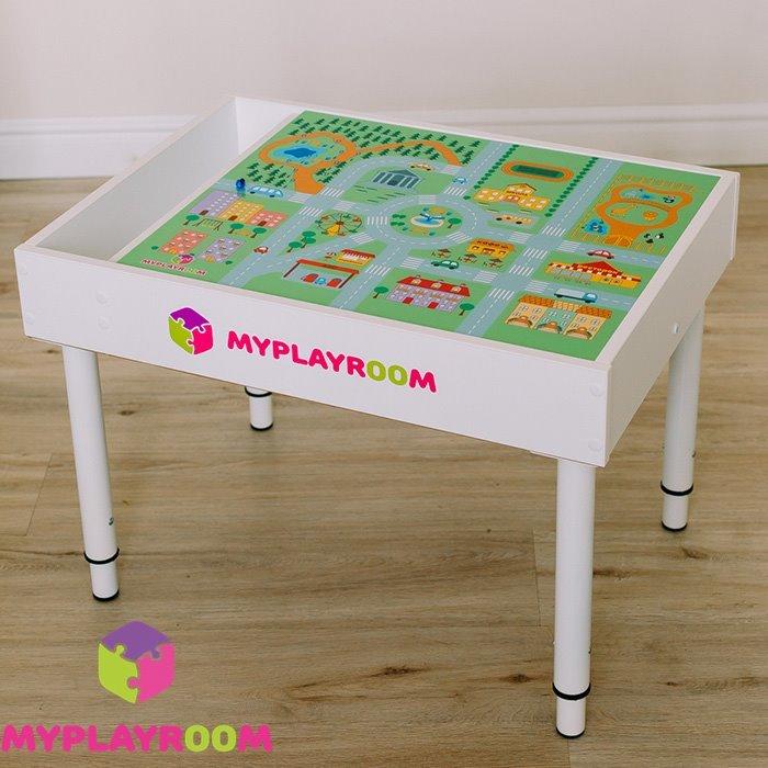 Универсальный игровой детский столик с интересной крышкой для ролевых игр Зоопарк