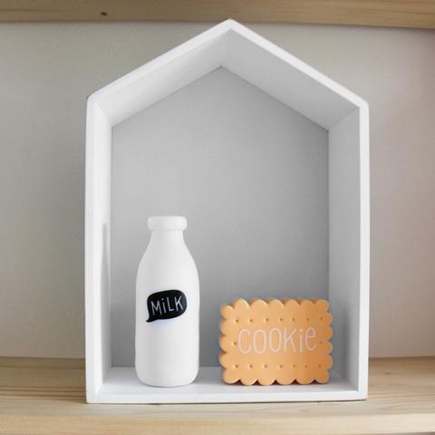 Полочка-домик для книг и игрушек, белая 2