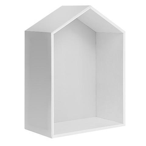 Полочка-домик для книг и игрушек, белая 3
