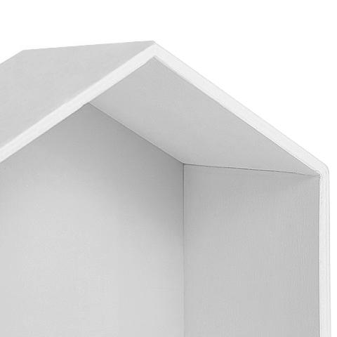 Полочка-домик для книг и игрушек, белая 4