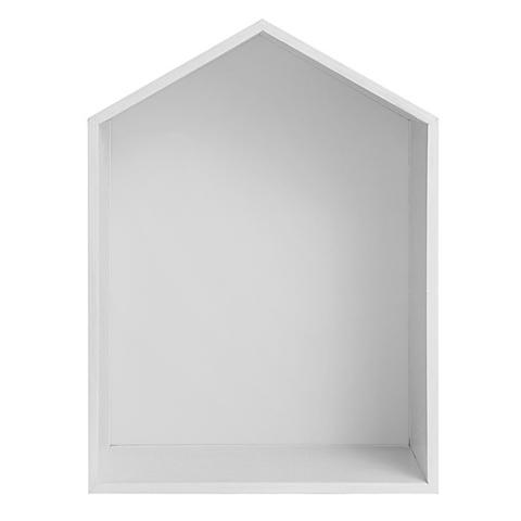 Полочка-домик для книг и игрушек, белая