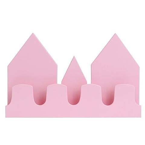 """Полка-домик """"Замок"""", розовая"""