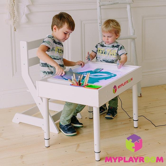 Растущий стульчик MYPLAYROOM™ к песочнице, белый