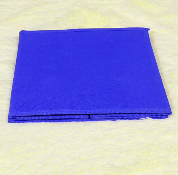 кофр для хранения мелочей синий для детской в сложенном виде