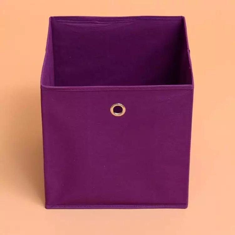 короб для игрушек фиолетовый