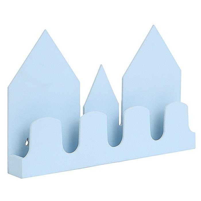 Полка-домик, голубая