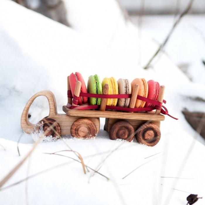 Деревянный машинка Лесовоз