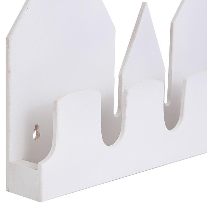 Полка-домик, белая