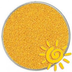 Кварцевый цветной песок (для рисования), желтый