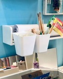 Карандашница навесная для полочки, стола-песочницы и растущего стульчика, белая 4