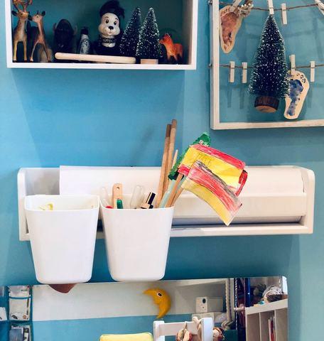 Карандашница навесная для полочки, стола-песочницы и растущего стульчика, белая 5