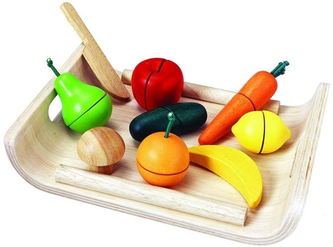 Деревянный набор фрукты и овощи