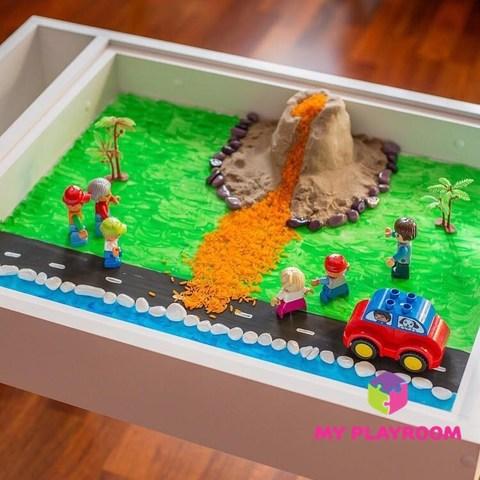 Стол песочница для игры с песком 4 в 1 3