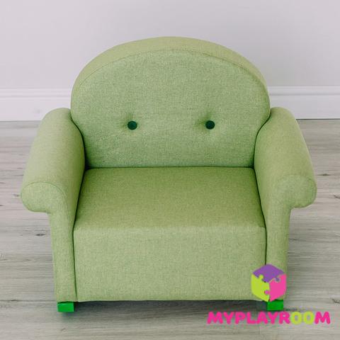 Детское мягкое кресло-качалка (мини-диванчик), Лайм 4