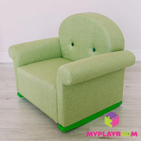 Детское мягкое кресло-качалка (мини-диванчик), Лайм 2