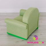 Детское мягкое кресло-качалка (мини-диванчик), Лайм 6