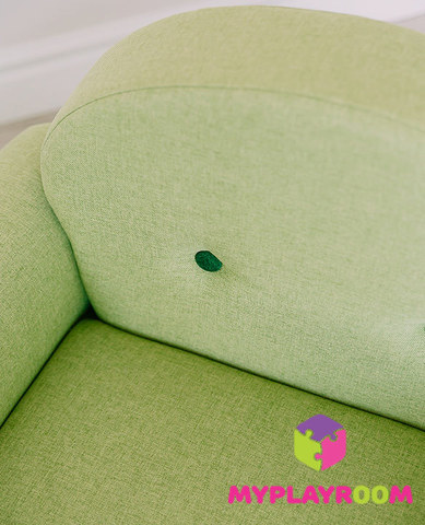 Детское мягкое кресло-качалка (мини-диванчик), Лайм 7