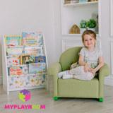 Детское мягкое кресло-качалка (мини-диванчик), Лайм 5