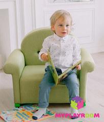 Детское мягкое кресло-качалка (мини-диванчик), Лайм