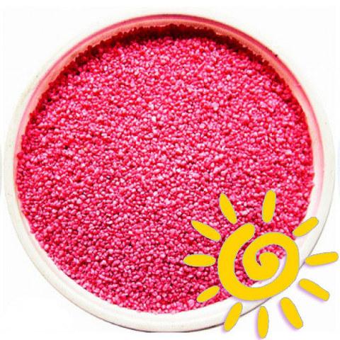 Кварцевый цветной песок (для рисования), розовый