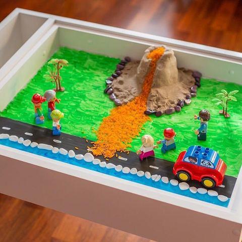 Световая песочница MYPLAYROOM™ с короткой столешницей 19