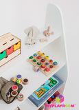 Детский стеллаж для пособий и игрушек в духе Монтессори 3