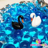 Набор миниатюр белый и чёрный лебедь, 2 шт 1