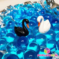Набор миниатюр белый и чёрный лебедь, 2 шт