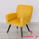 Детское мягкое кресло в стиле 60-х, медовый 6