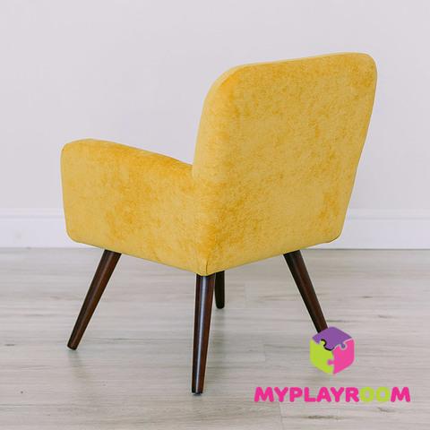 Детское мягкое кресло в стиле 60-х, медовый 4