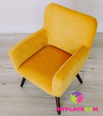 Детское мягкое кресло в стиле 60-х, медовый 3