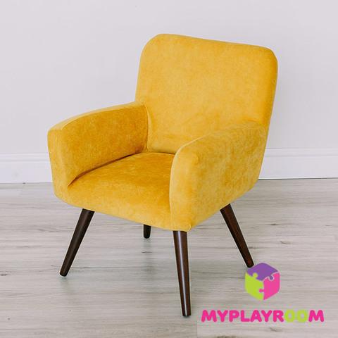 Детское мягкое кресло в стиле 60-х, медовый