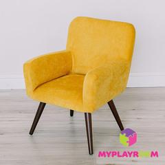 Детское стильное кресло в стиле 60-х, медовый