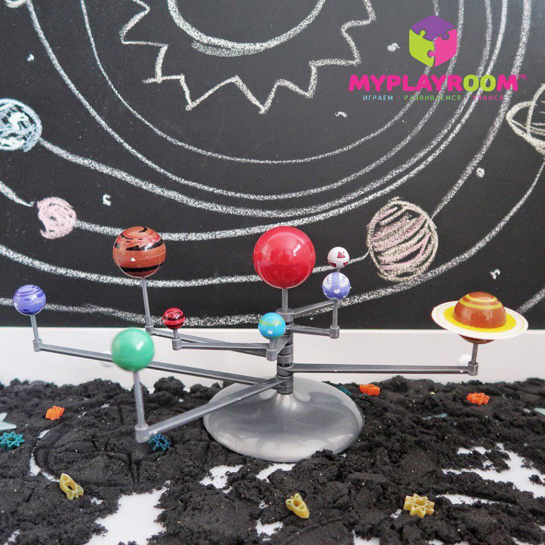 набор для опытов модель солнечной системы: солнце и 8 планет, подвижная
